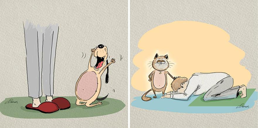 cats-vs-dogs-funny-illustrations-bird-born-6